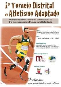 1.º Torneio Distrital de Atletismo Adaptado